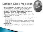 lambert conic projection