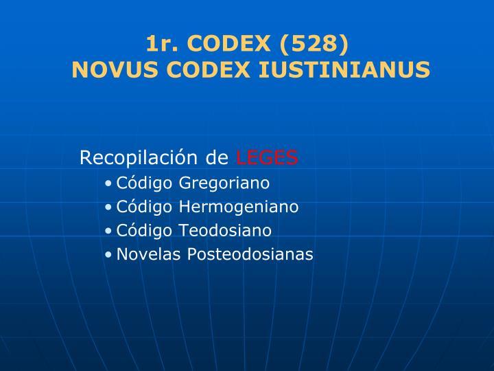 1r. CODEX (528)