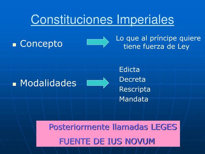 Constituciones Imperiales