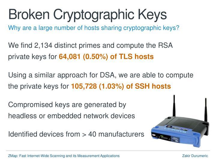 Broken Cryptographic Keys