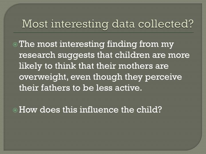 Most interesting data collected?