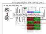 core principles the omics part