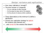 design variance and replication