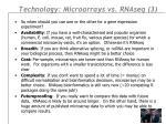 technology microarrays vs rnaseq 3