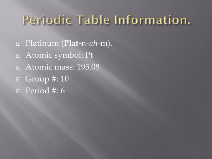 Ppt All About Platinum Powerpoint Presentation Id1923092