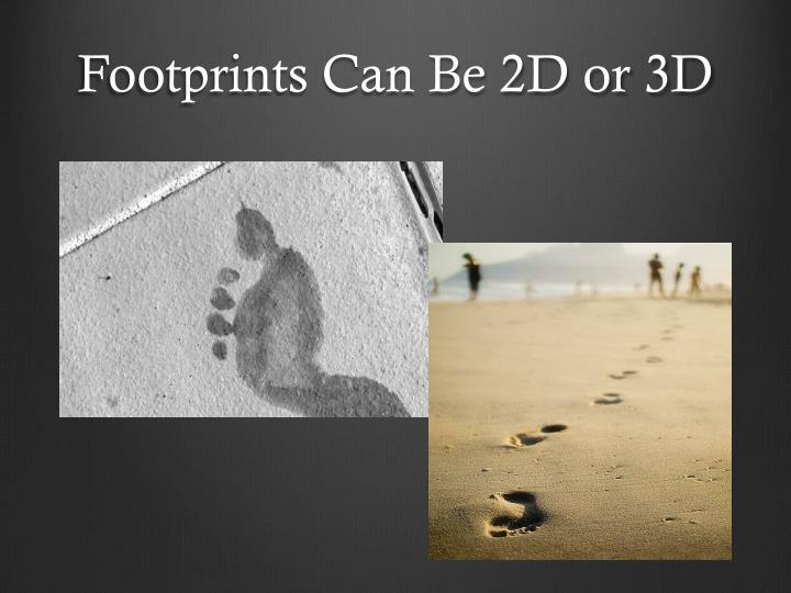 Footprints Can Be 2D or 3D