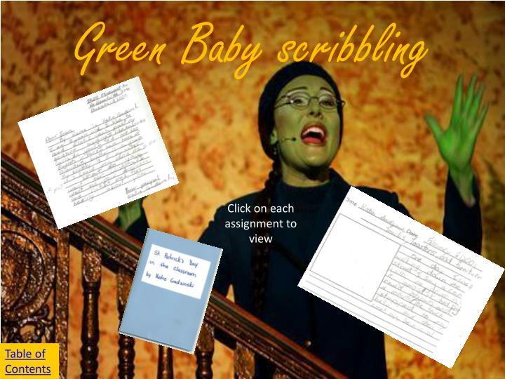Green Baby scribbling