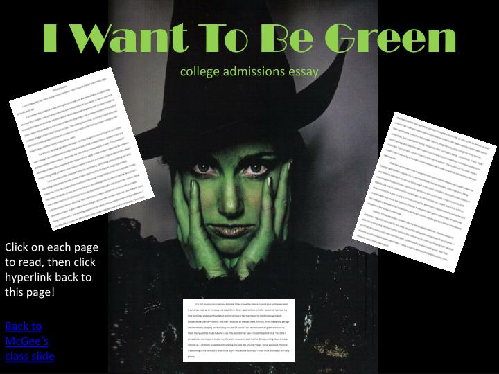 I Want To Be Green