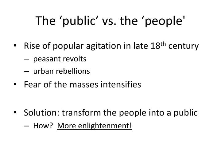 The 'public' vs. the 'people'