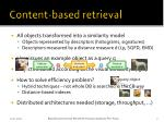 content based retrieval