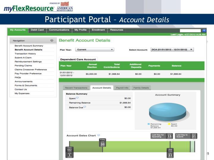 Participant Portal –