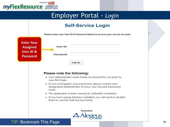 Employer Portal -