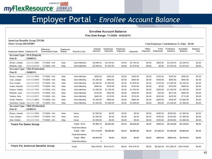 Employer Portal –