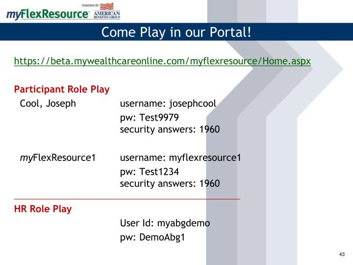 Come Play in our Portal!