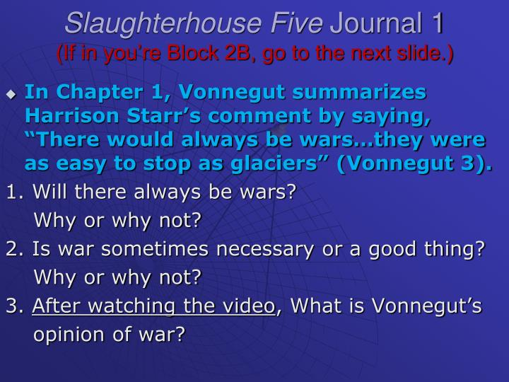 slaughterhouse five chapter 10 questions