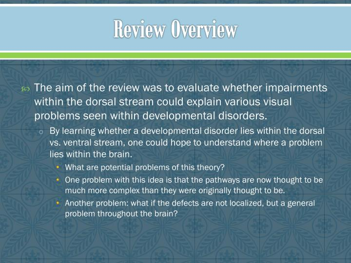 Review Overview