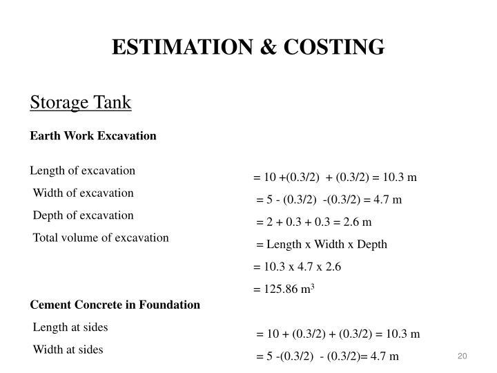 ESTIMATION & COSTING