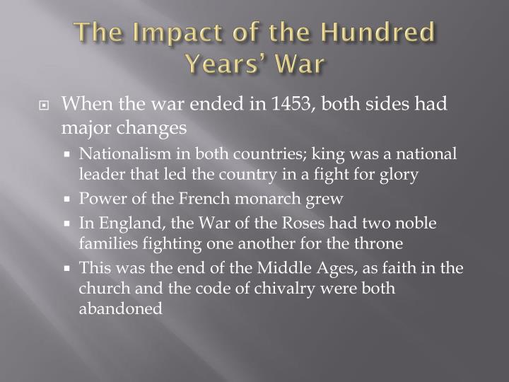 Hundred years war essay