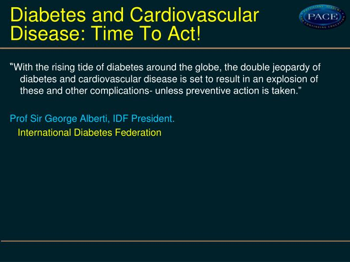 links between diabetes and cardiovascular disease This is the second of a series of articles based on presentations at the american diabetes association (ada) 70th scientific sessions, held 25-29 june 2010 in orlando, florida, pertaining to cardiovascular disease (cvd.