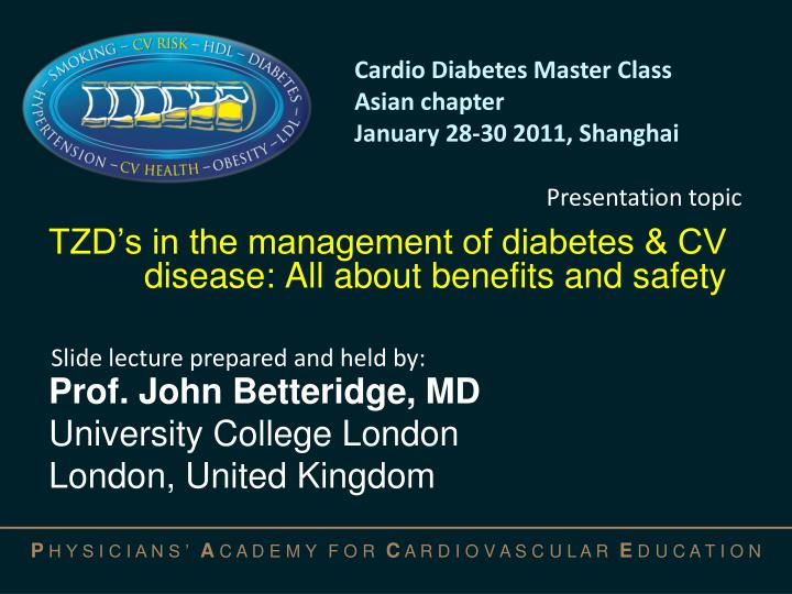 tzd s in the management of diabetes cv disease all about benefits and safety n.