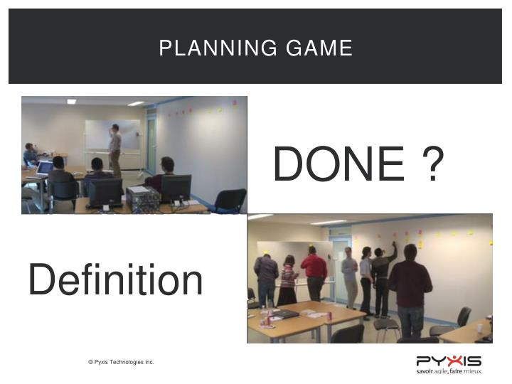 Planning game
