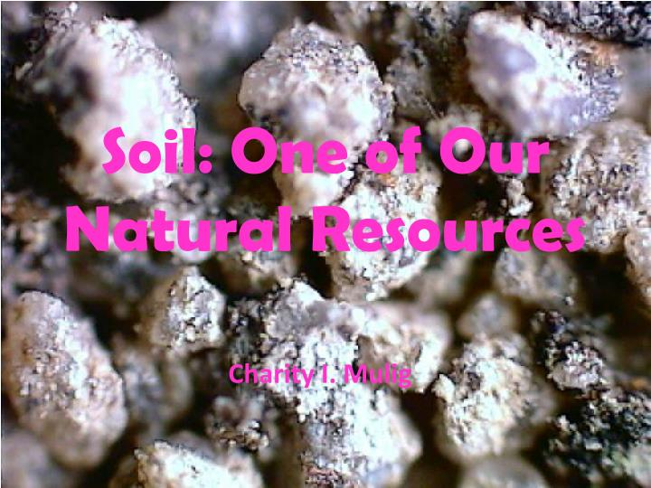 soil one of our natural resources n.