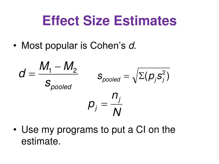 Effect Size Estimates