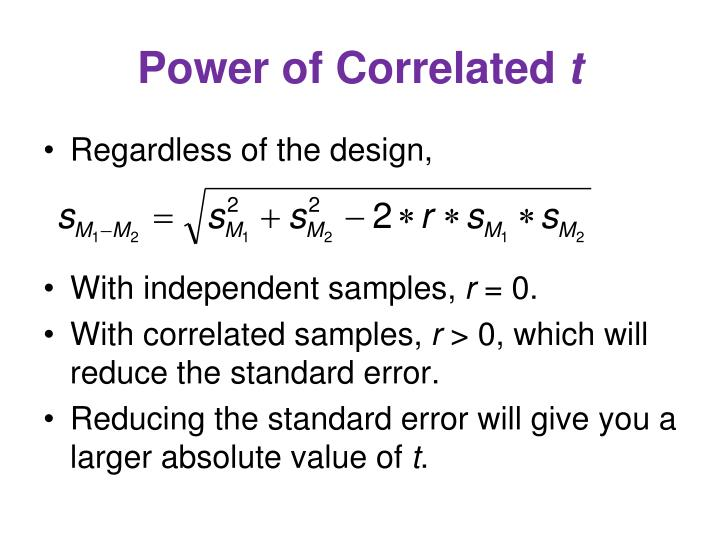 Power of Correlated