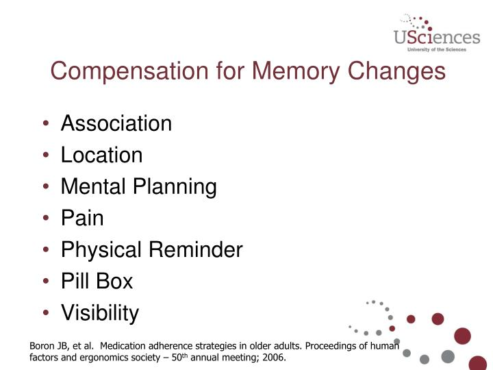 Compensation for Memory Changes