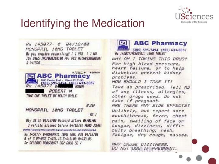 Identifying the Medication