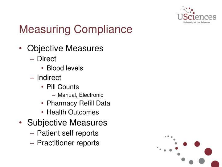 Measuring Compliance