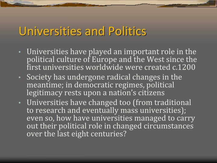 Universities and politics