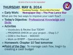 thursday may 8 2014