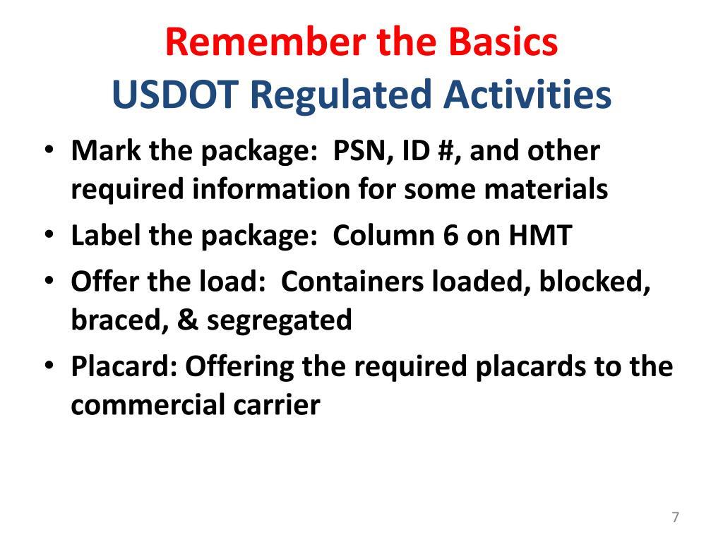 Ppt Hhw And Vsqg Annual Update Dot Hazardous Materials Compliance