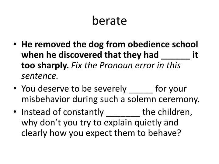 Berate