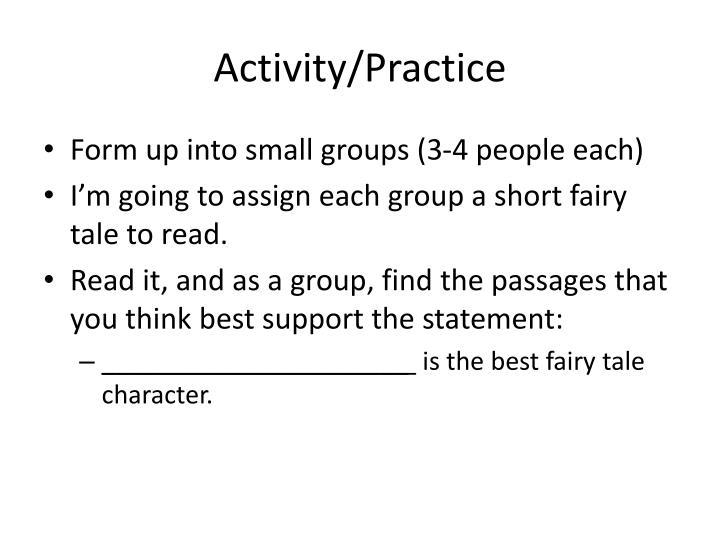 Activity/Practice
