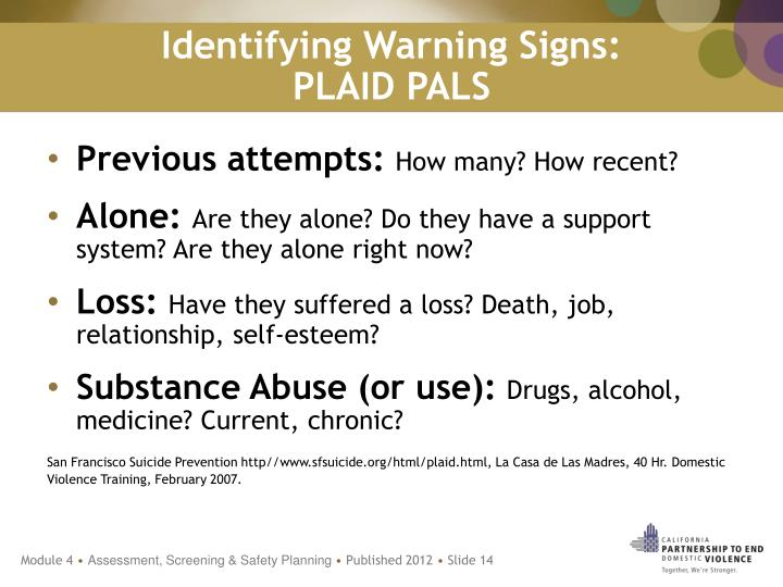 Identifying Warning Signs: