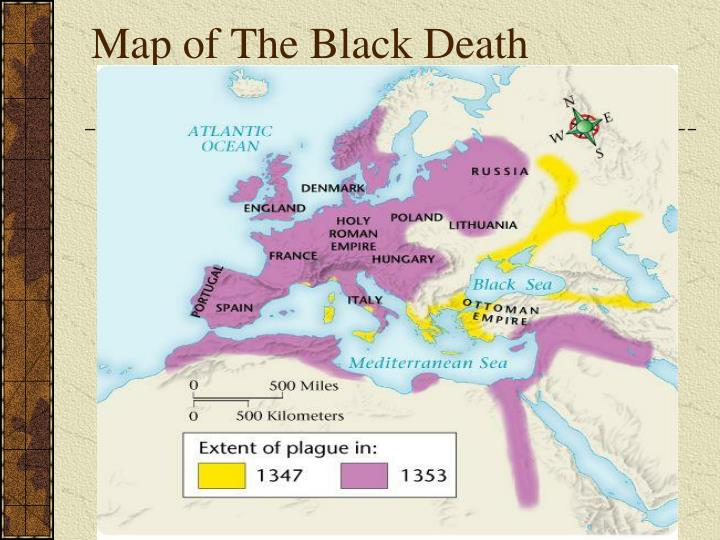 Map of The Black Death