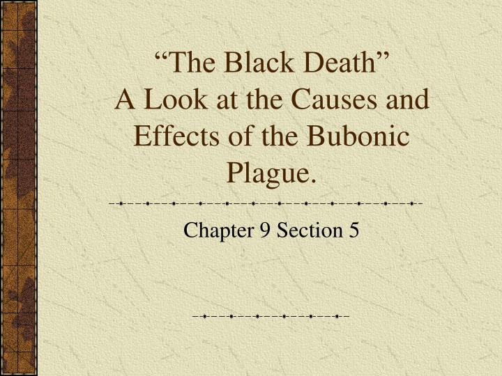 The black death a look at the causes and effects of the bubonic plague