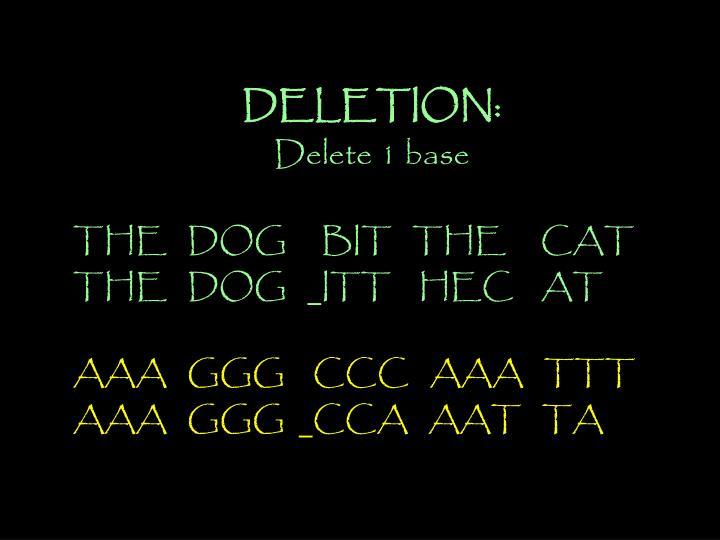 DELETION: