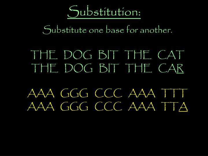 Substitution: