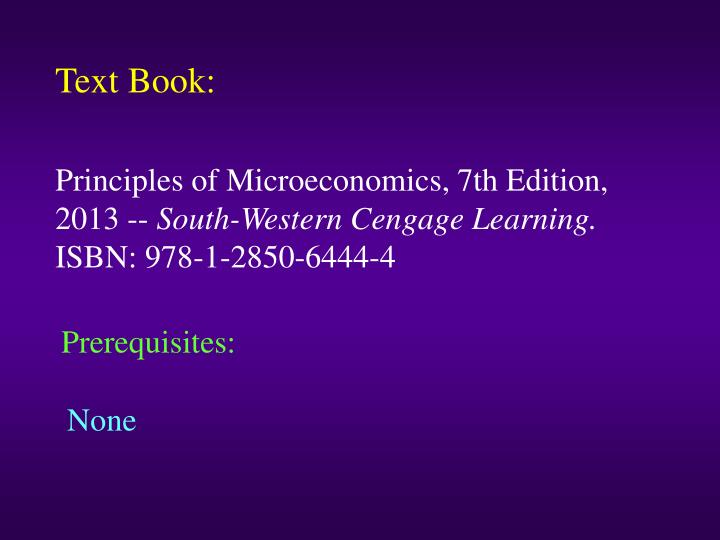 Text Book:
