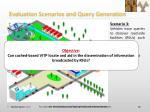 evaluation scenarios and query generation2