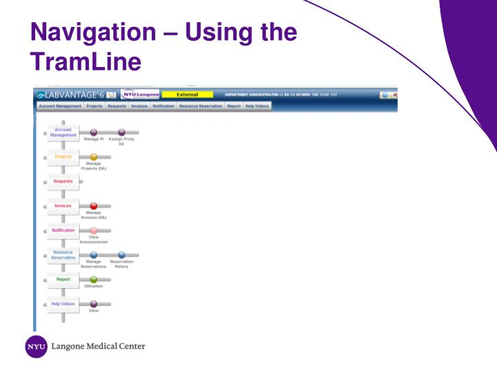 Navigation – Using the