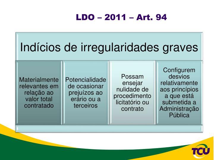 LDO – 2011 – Art. 94