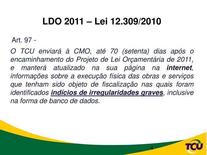 LDO 2011 – Lei 12.309/2010