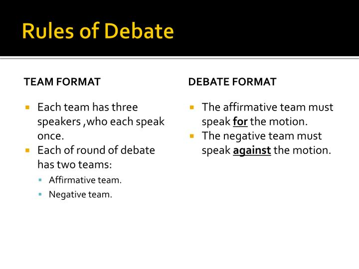 debate second affirmative Guide to public forum debate public forum debate (pfd) is a team event that advocates or rejects a position posed by the monthly resolution topic.