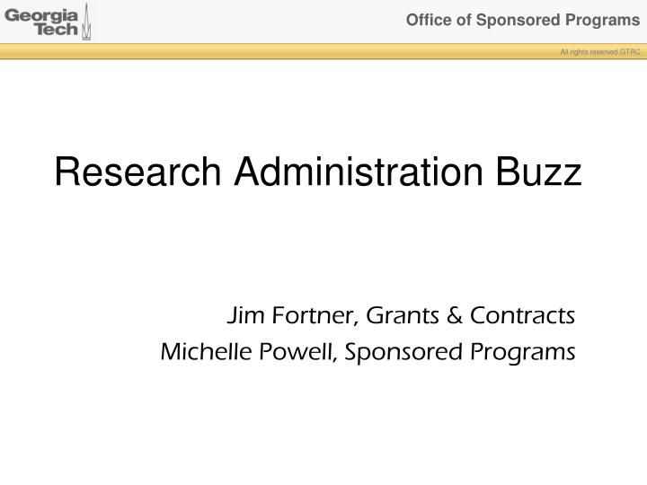 research administration buzz n.