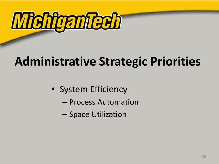 Administrative Strategic Priorities