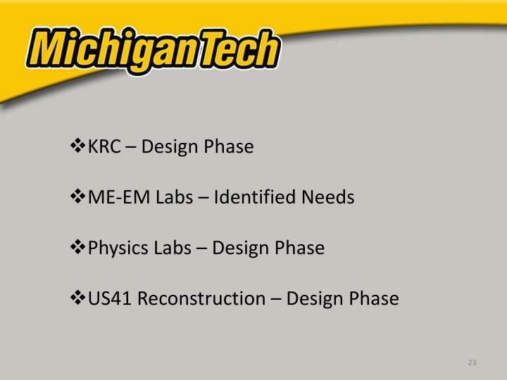 KRC – Design Phase